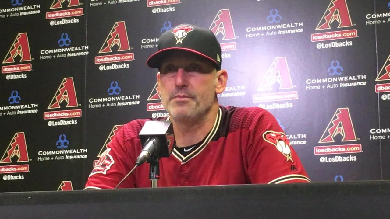 Diamondbacks manager Torey Lovullo talks about his team's 2-0 loss to the Colorado Rockies and his team's elimination from postseason contention.