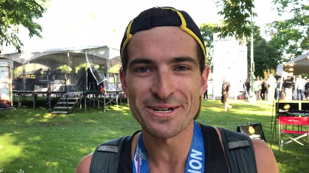 Alex Rink talks about winning the ThedaCare Half Marathon