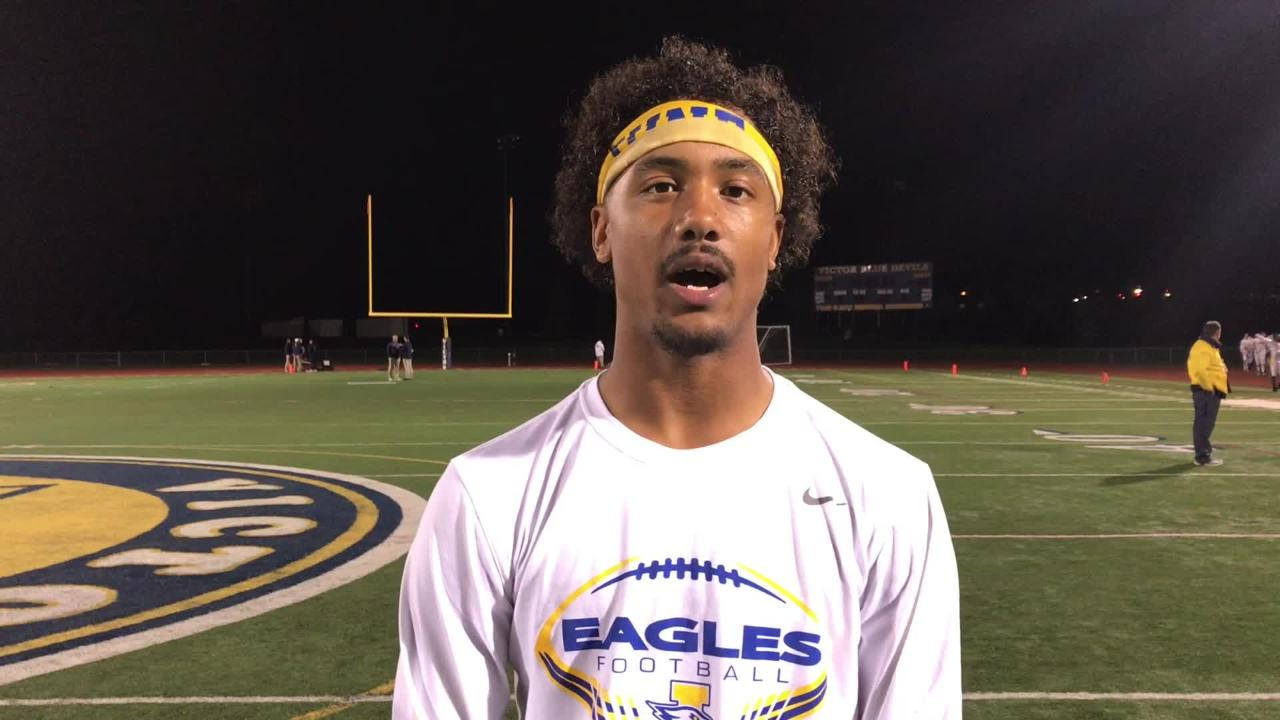 Irondequoit QB Freddy June recaps his big day against the state-ranked Victor Blue Devils.