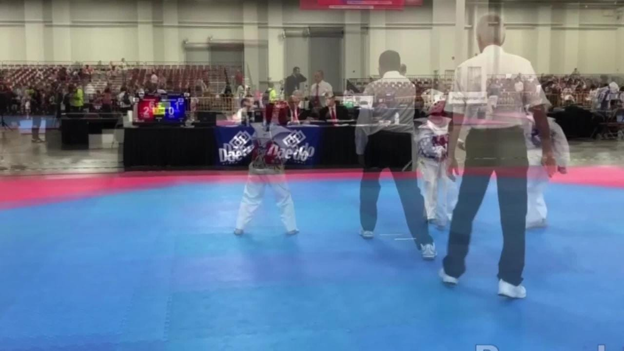 Priya Xiong, 8, of Weston won a gold medal this summer in the 2018 lightweight national taekwondo championships.