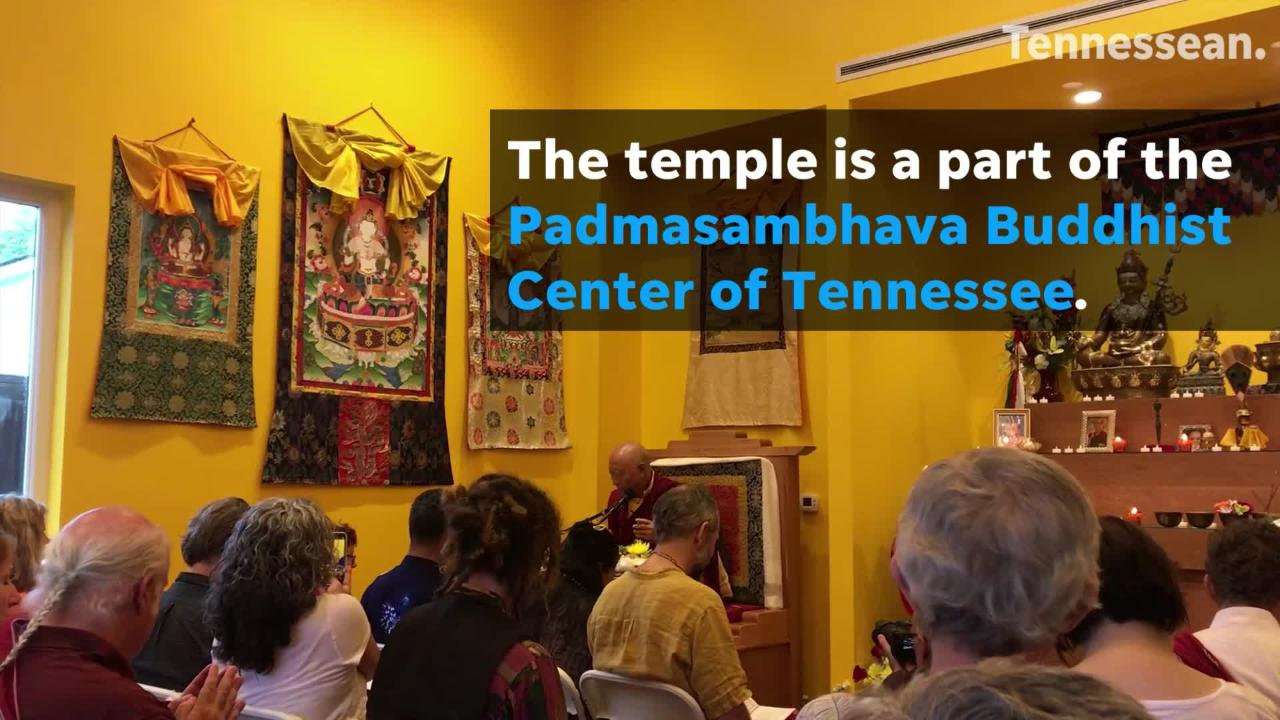The new Yeshe Tsogyal Temple is part of Padmasambhava Buddhist Center of Tennessee.