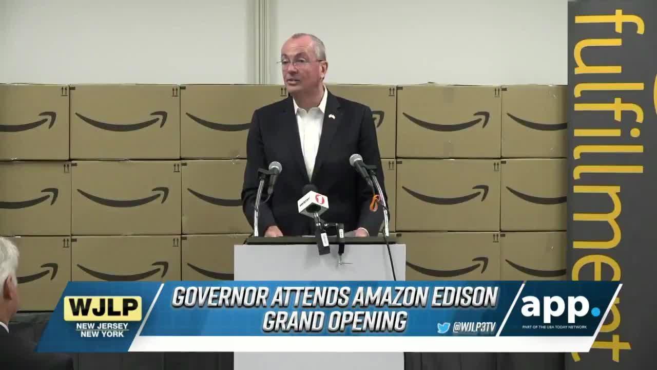 NewsBreak: Murphy at Amazon ribbon-cutting in Edison