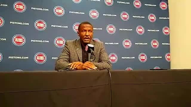 Detroit Pistons coach Dwane Casey speaks to the media on Monday, Sept. 24, 2018, at Little Caesars Arena.