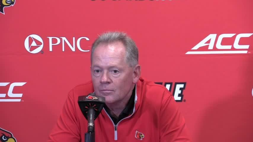 Petrino said video of the Virginia game was hard to watch.