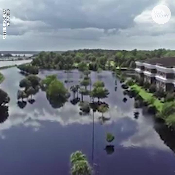 Drone video shows Conway still underwater more than a week after Hurricane Florence. Even more flooding is expected as the Waccamaw River crests.
