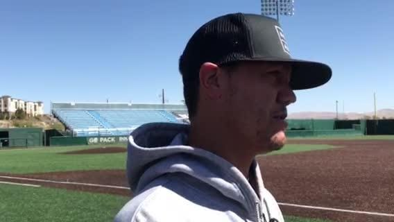 Nevada baseball coach TJ Bruce talks about the upcoming season. Pack media day was Monday