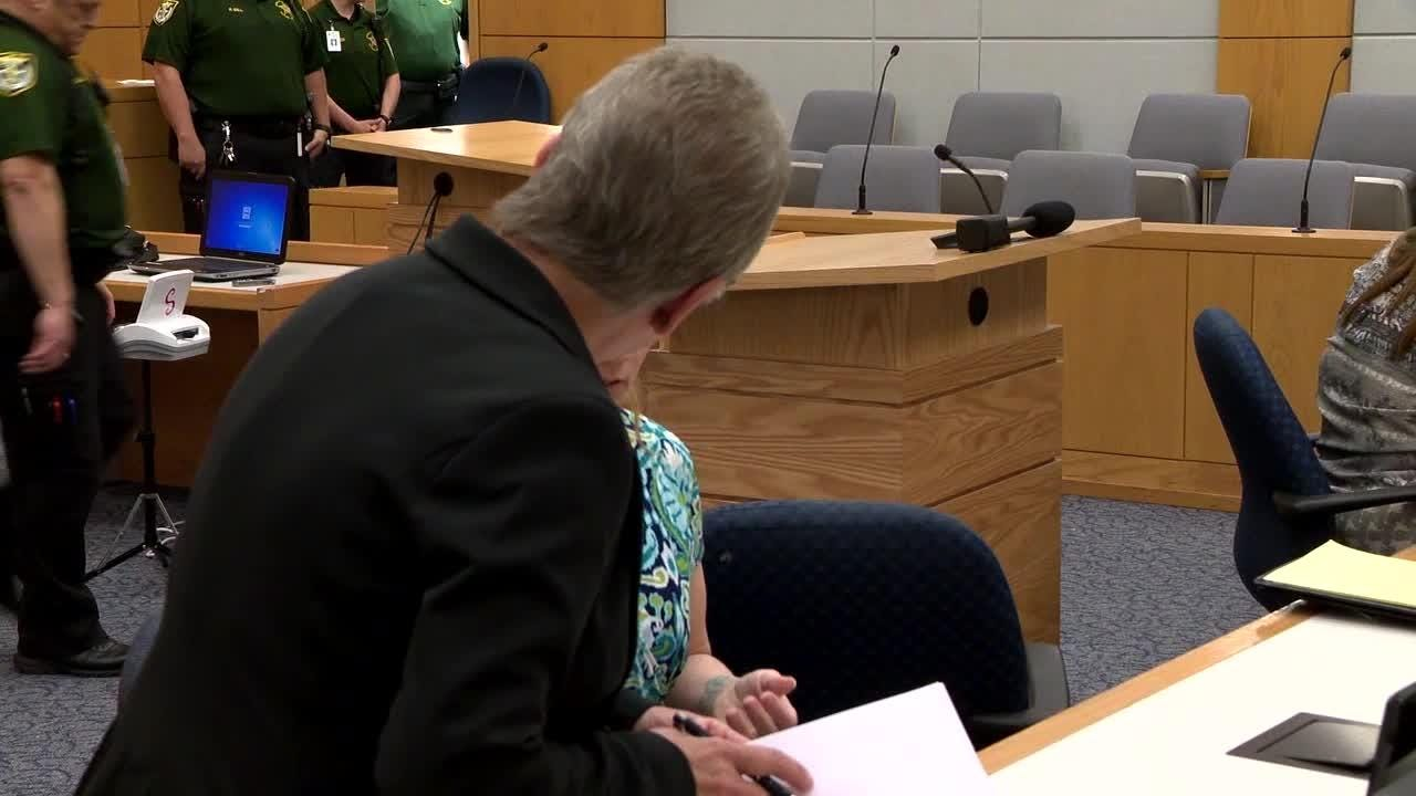 Mary Rice sat quietly Monday morning in front of more than 70 potential jurors, some of whom will play a part in deciding whether she is guilty of carrying out a 2017 murder spree.