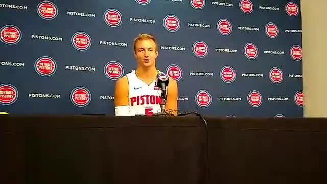 Detroit Pistons guard Luke Kennard previews his second season in the NBA at media day Sept. 24, 2018.