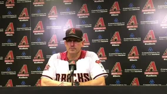 Diamondbacks manager Torey Lovullo discusses his team's loss to the Dodgers on Monday.