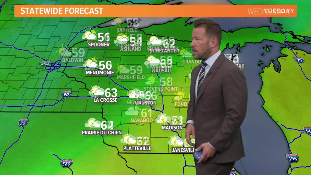 Wisconsin weather forecast for Tuesday, Sept. 25