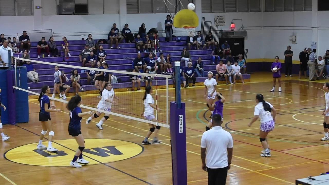 Geckos and Cougars IIAAG Girls' High School volleyball showdown