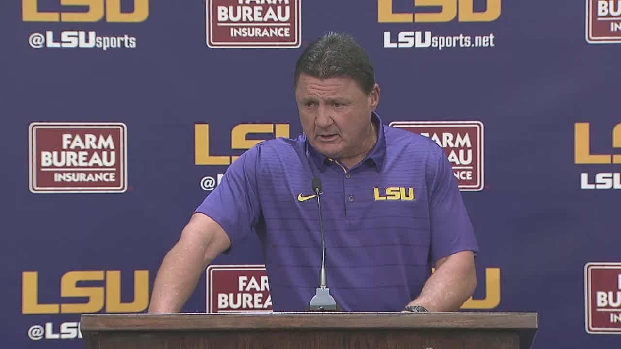 LSU Football: Orgeron previews Ole Miss matchup