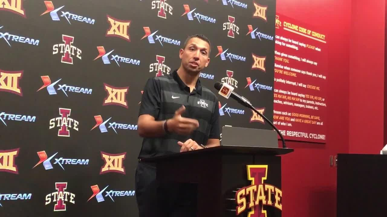 It's too soon to evaluate Iowa State's play in the red zone, coach Matt Campbell says. Red zone TDs will come.