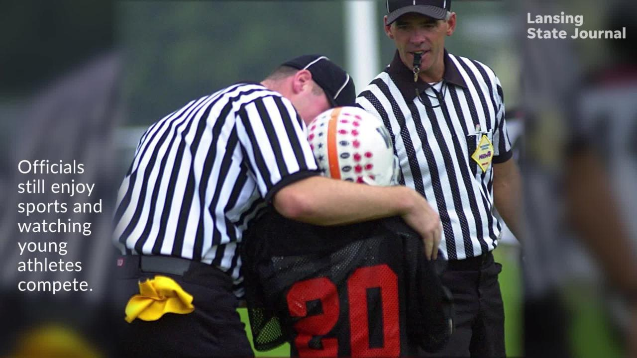 Michigan High School Athletic Association needs officials for sports events. Organization has seen number of officials drop for nine straight years.
