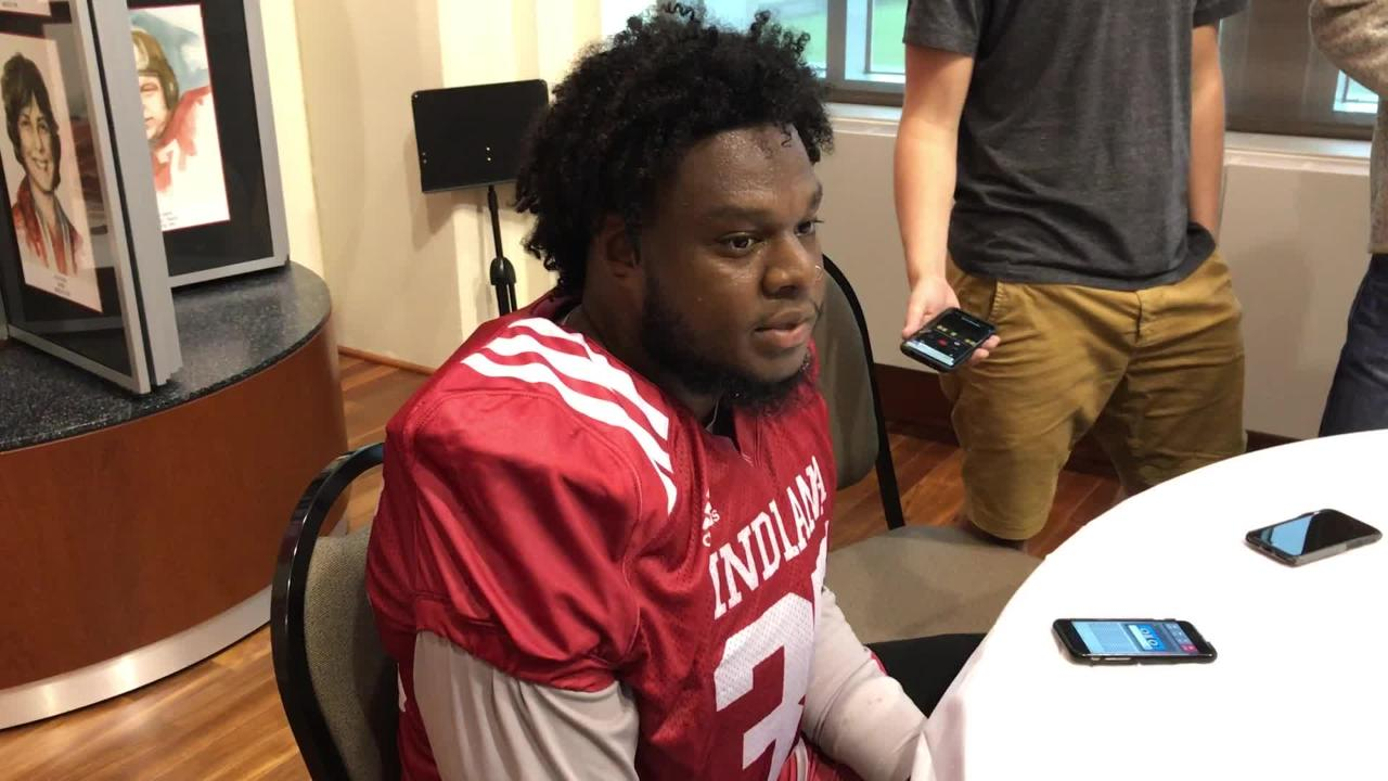 IU redshirt senior defensive end Nile Sykes speaks with the media about the good and bad from Indiana's 35-21 loss to Michigan State.