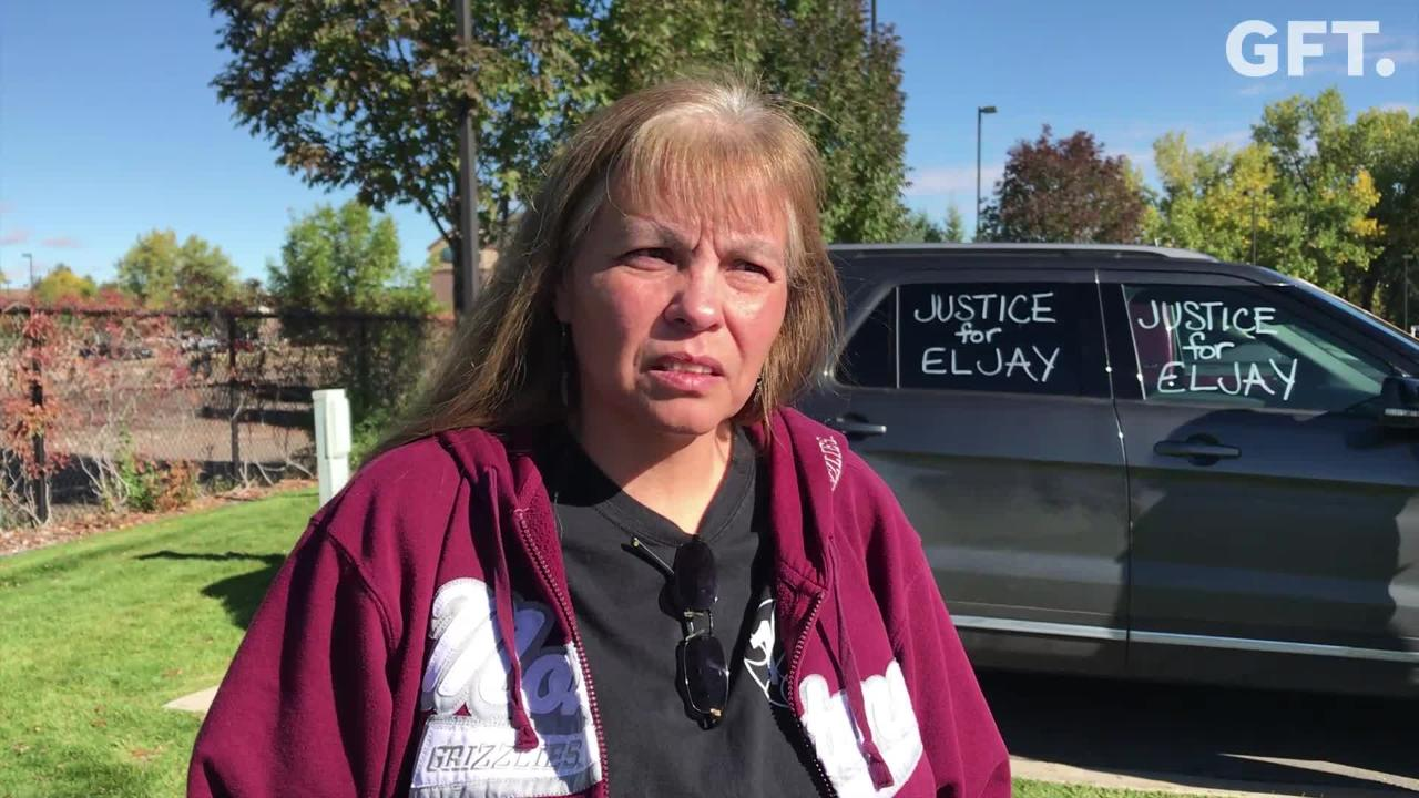 Family of Eljay young Running Crane came to Great Falls Tuesday for the arraignment of Shayanna Marie England.