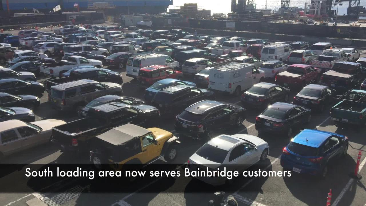 Bremerton and Bainbridge loading areas will swap beginning Sept. 26 through mid-summer 2019.