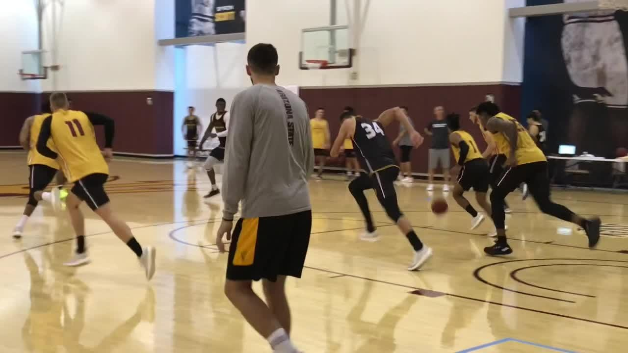 ASU forward Zylan Cheatham talks about his new haircut and new team after practice on Tuesday.