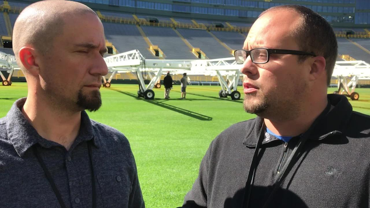 Beat reporters Jim Owczarski and Ryan Wood discuss Aaron Rodgers' lack of practice and the addition of cornerback Bashaud Breeland.