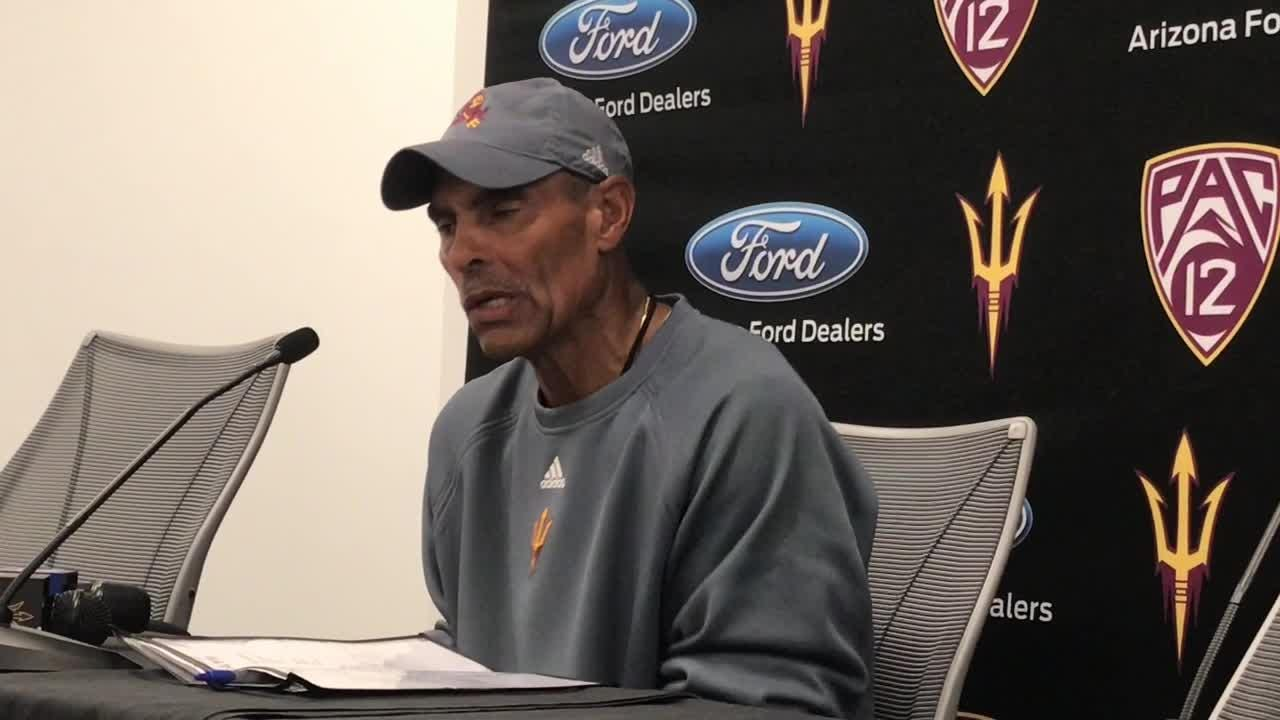 ASU coach Herm Edwards on Oregon State, injury issues