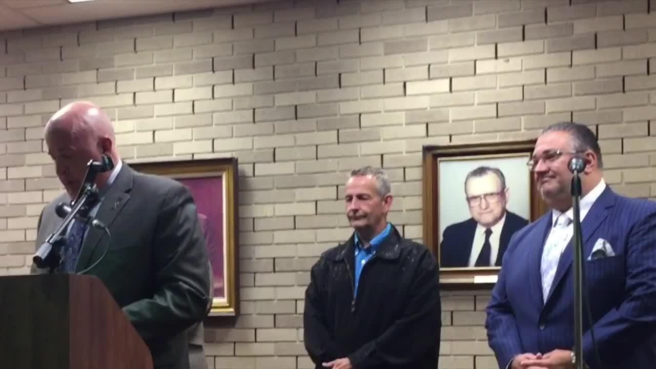Vineland officials wished the best Tuesday night to Matthew Finley, who on Sept. 1 ended his police career as a captain in the department.