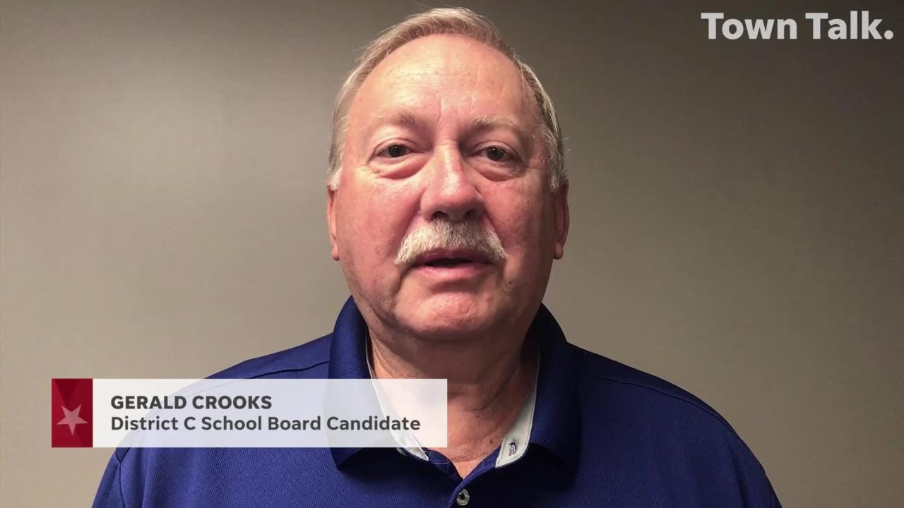 Gerald Crooks is running for re-election to the Rapides Parish School Board in District C.