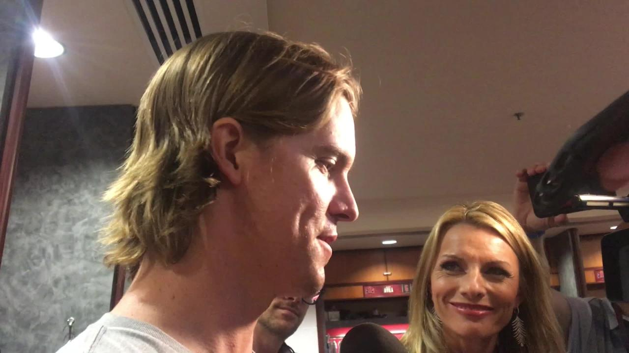 Starting pitcher Zack Greinke went through six innings as the Diamondbacks won 7-2 over the Dodgers in their last home game.
