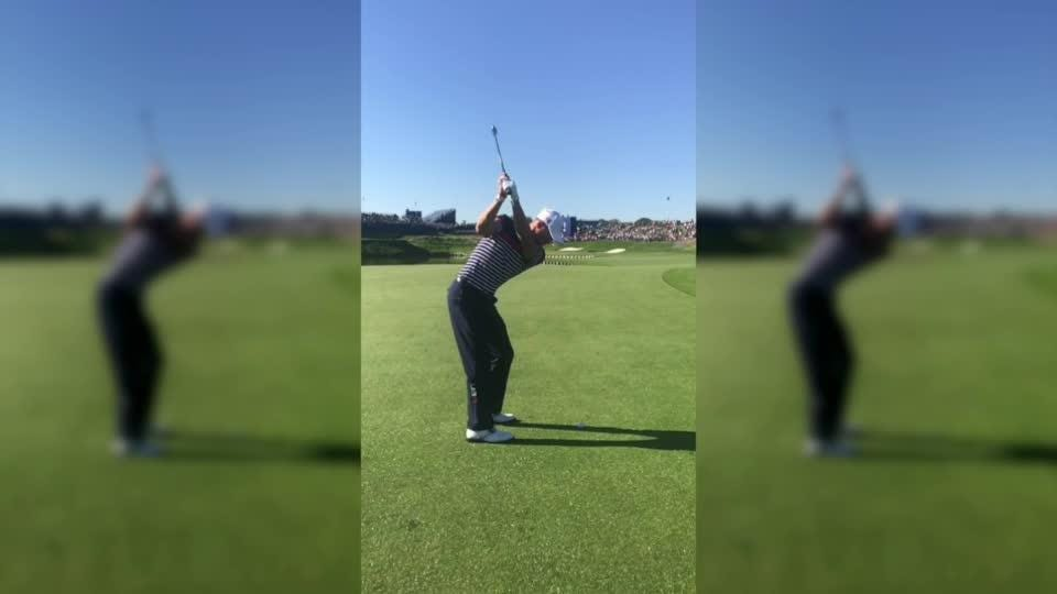 Justin Thomas Dad Videos His Son S Golf Swing At Ryder Cup