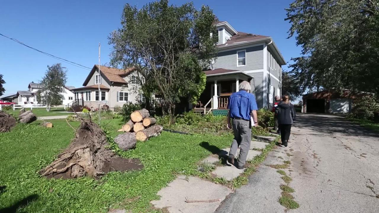 FEMA assesses storm damage in Fond du Lac County from the storms that raked the area August 29th when 19 tornadoes touched down in Wisconsin.