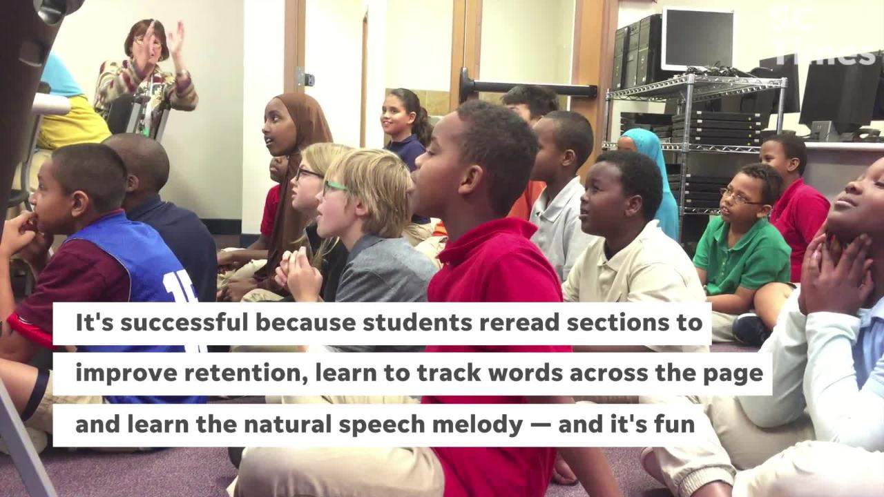 Fifth-graders at STRIDE Academy in St. Cloud begin a program that uses music to improve reading proficiency at schools with high poverty rates.