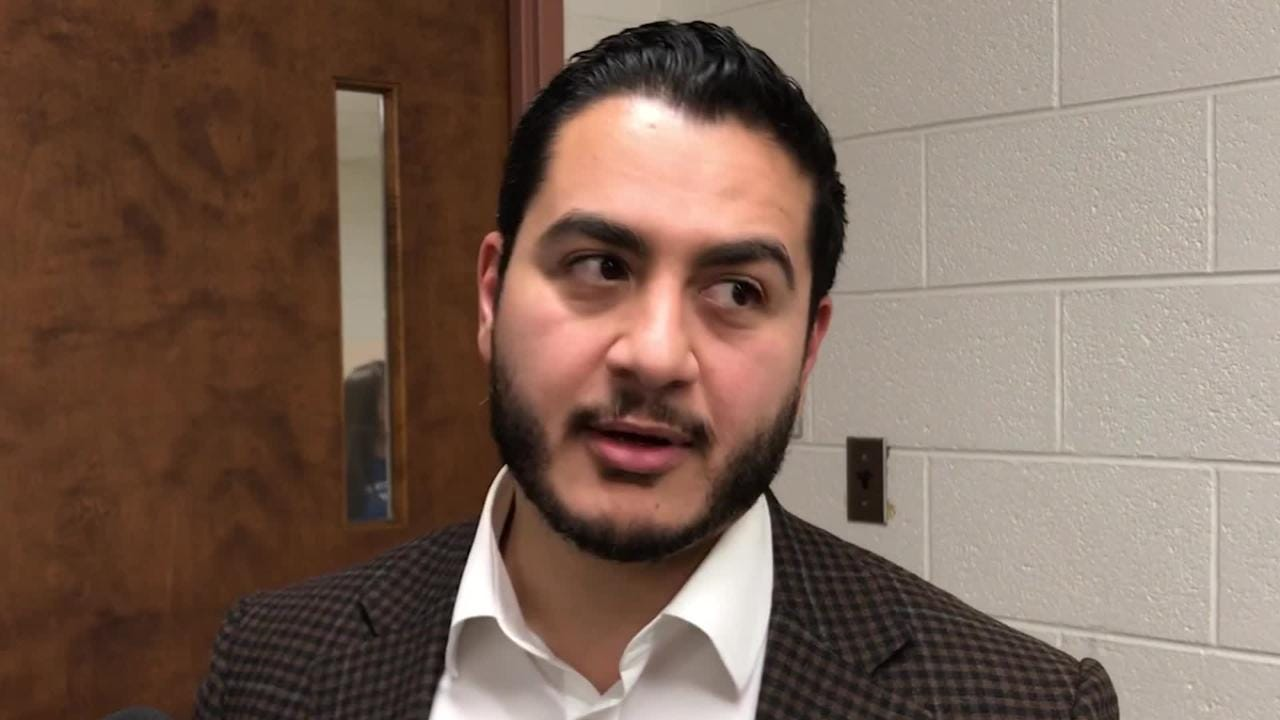 Former Democratic gubernatorial candidate Abdul El-Sayed talks about the importance of young voters before speaking at a NextGen Rising event at MSU.