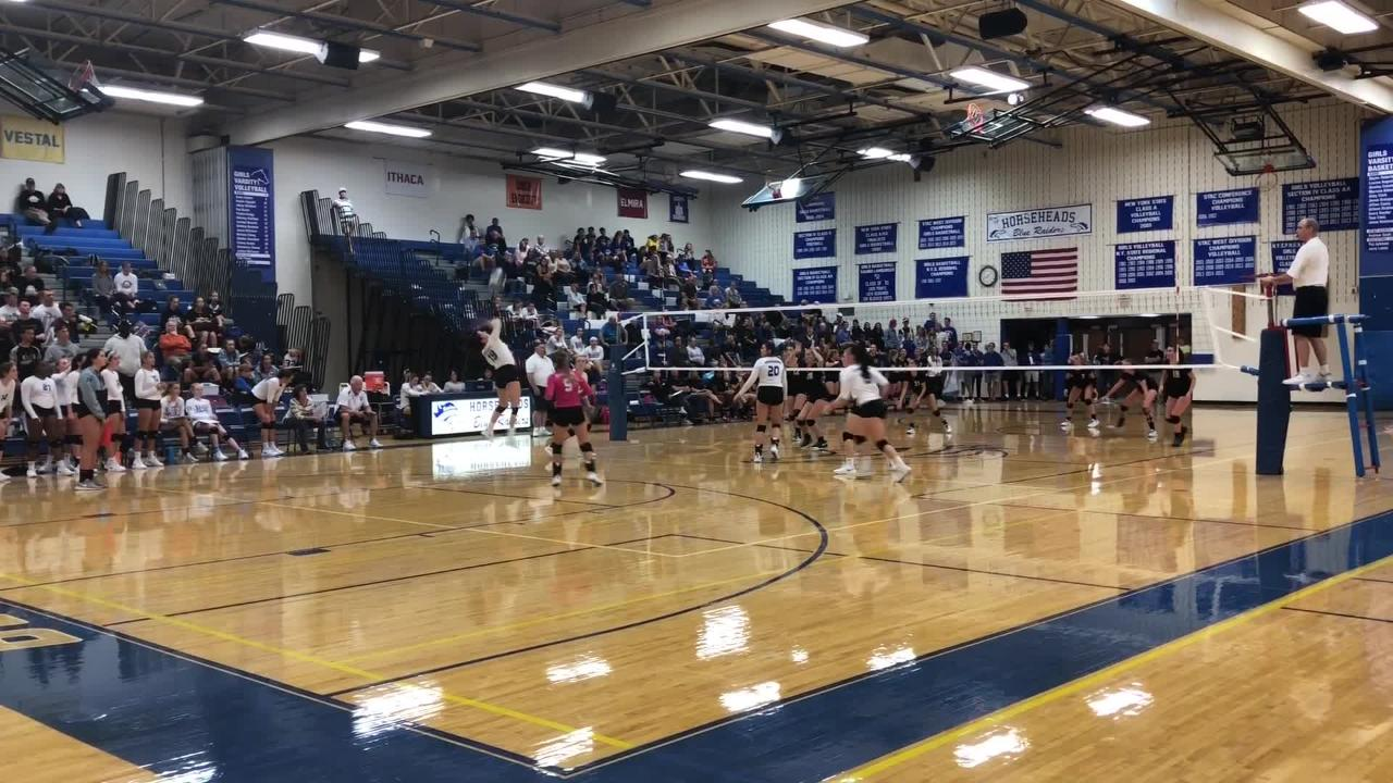 Corning was a 3-1 winner over Horseheads in volleyball Sept. 27, 2018 at Horseheads Middle School.