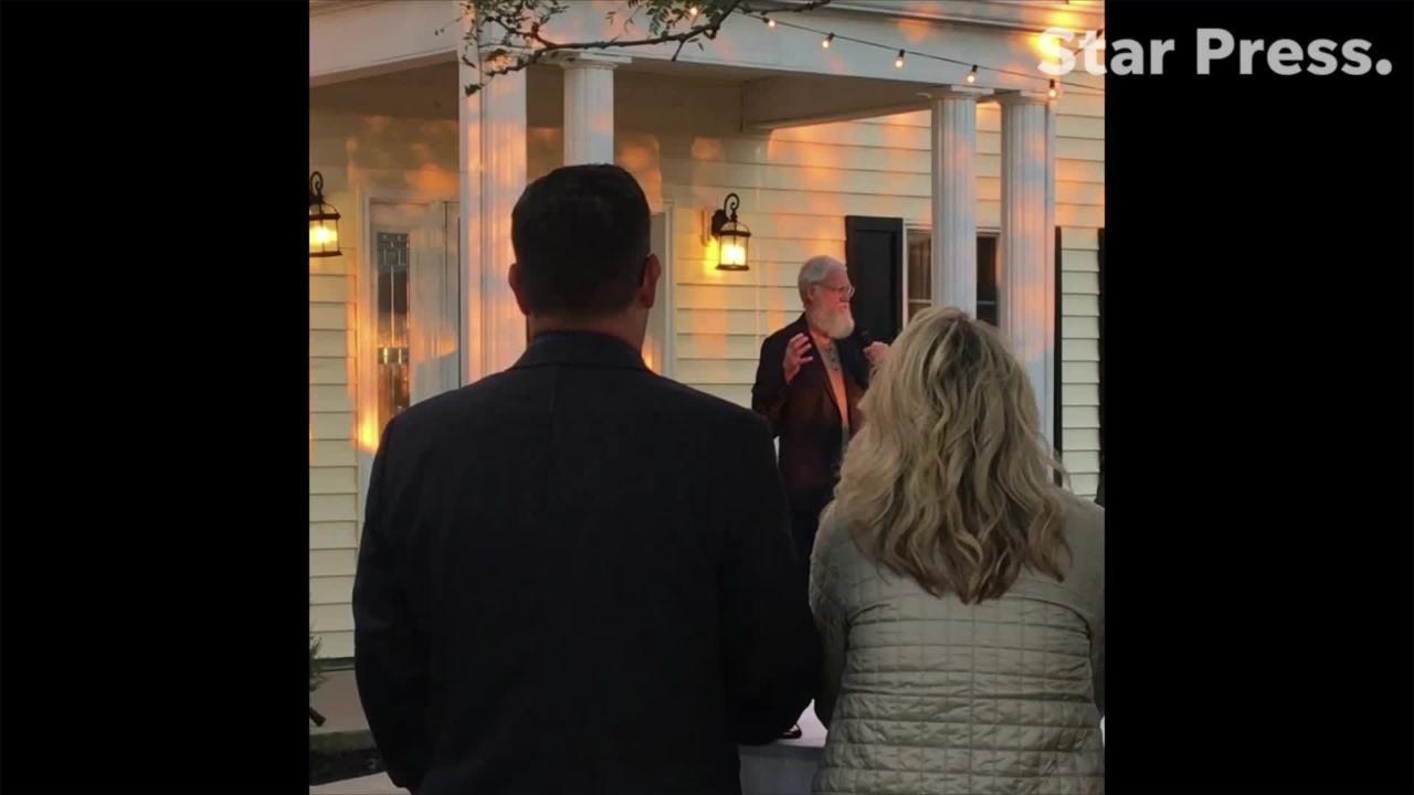 VIDEO: David Letterman speaks at Jeannine Lee Lake campaign event