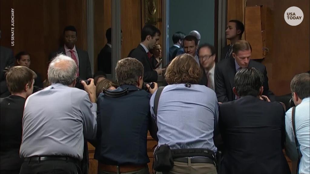 Democratic senators walk out of Kavanaugh hearing