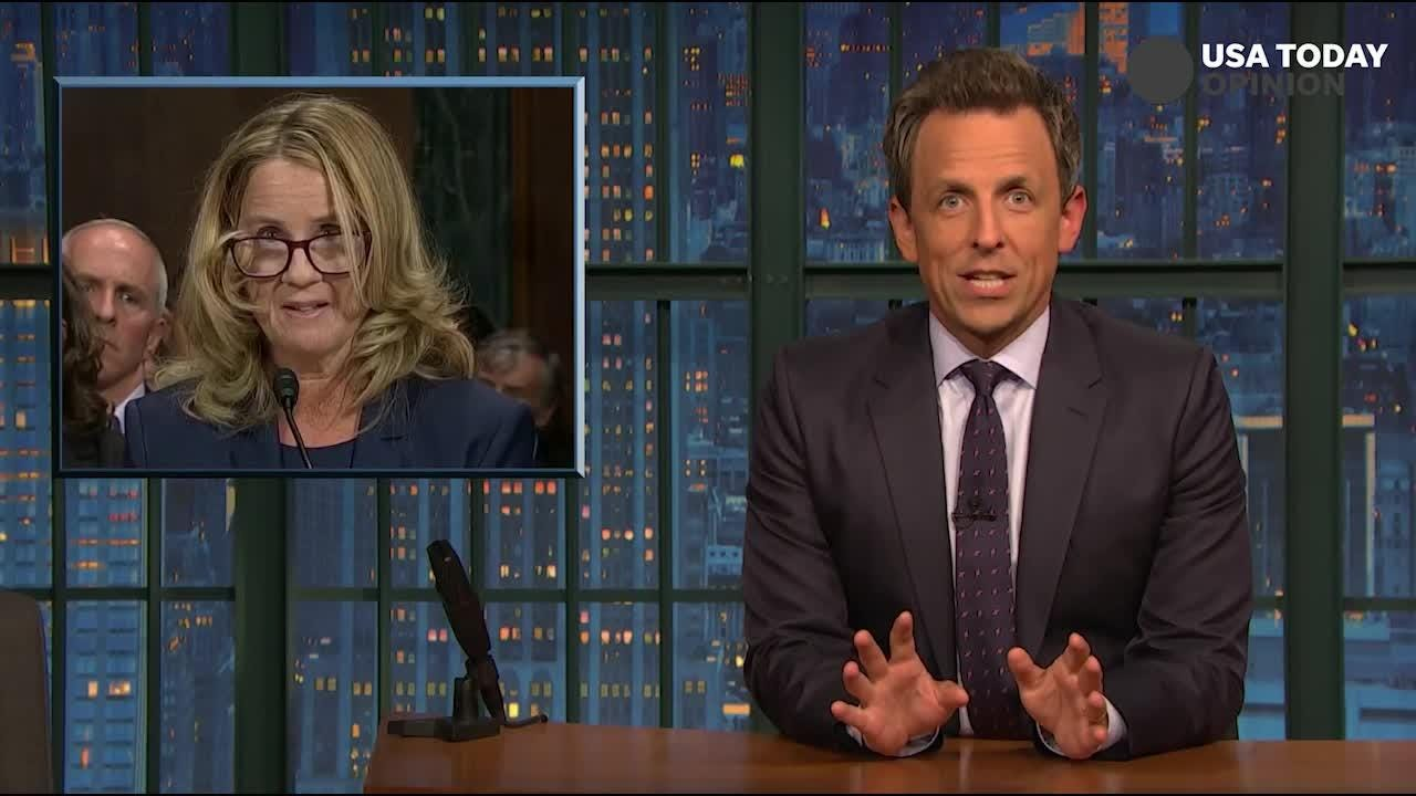 The late-night comics take a look at Christine Blasey Ford, Brett Kavanaugh's testimonies. Take a look at our favorite jokes and then vote for yours!