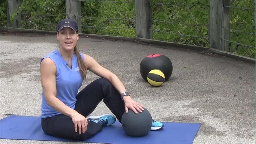 In Motion: Medicine Ball Hip Bridge