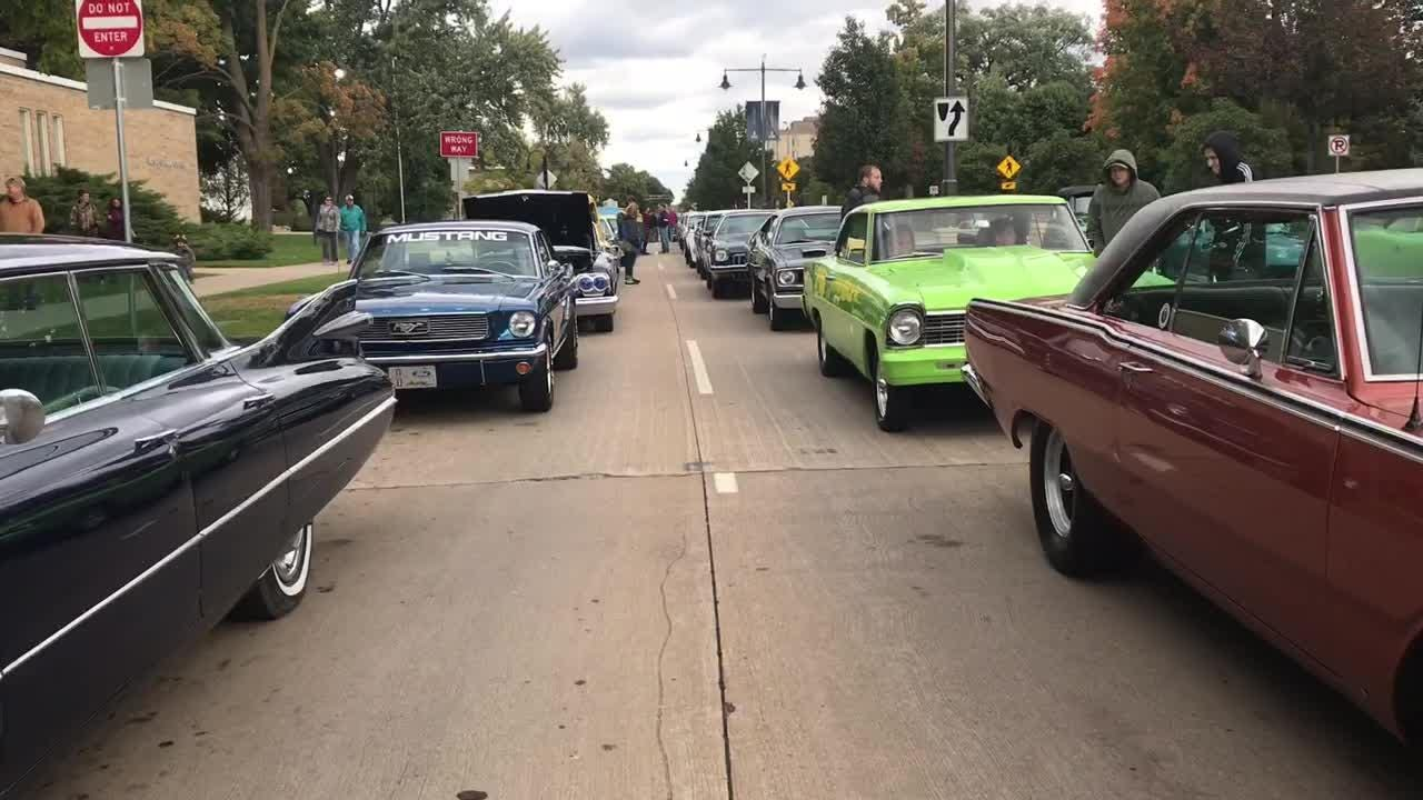 A walking tour of the staging area in downtown Appleton on Friday night