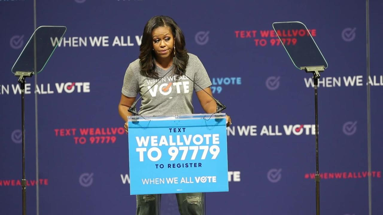 MIchelle Obama headlines When We All Vote rally at University of Miami