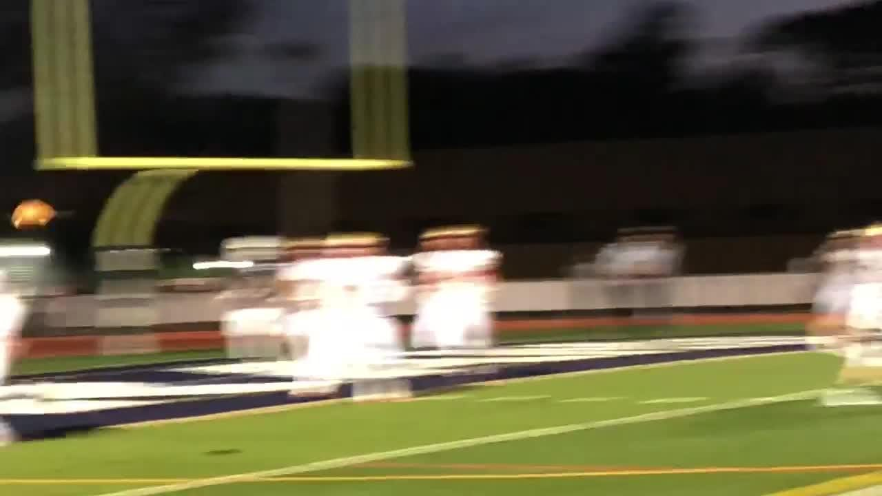 Anthony Sofia finds Dylan Glincman for Randolph's first touchdown. The Rams went on to beat Mount Olive 24-3.