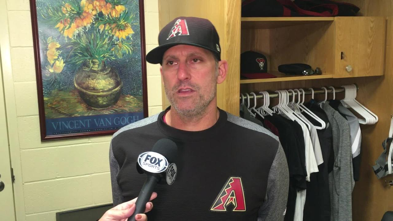 Diamondbacks manager Torey Lovullo talks about his team's 15-inning loss to the San Diego Padres, including Archie Bradley's blown save.