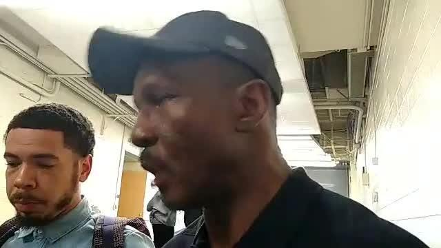 Detroit Pistons coach Dwane Casey speaks to the media after the team's open practice at Crisler Center on Saturday, Sept. 29, 2018.