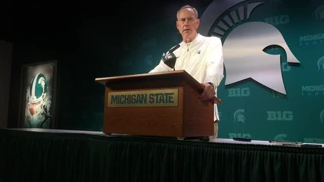 Mark Dantonio discusses Michigan State's win over Central Michigan, including what happened in poor 4th quarter, Sept. 29 at Spartan Stadium.