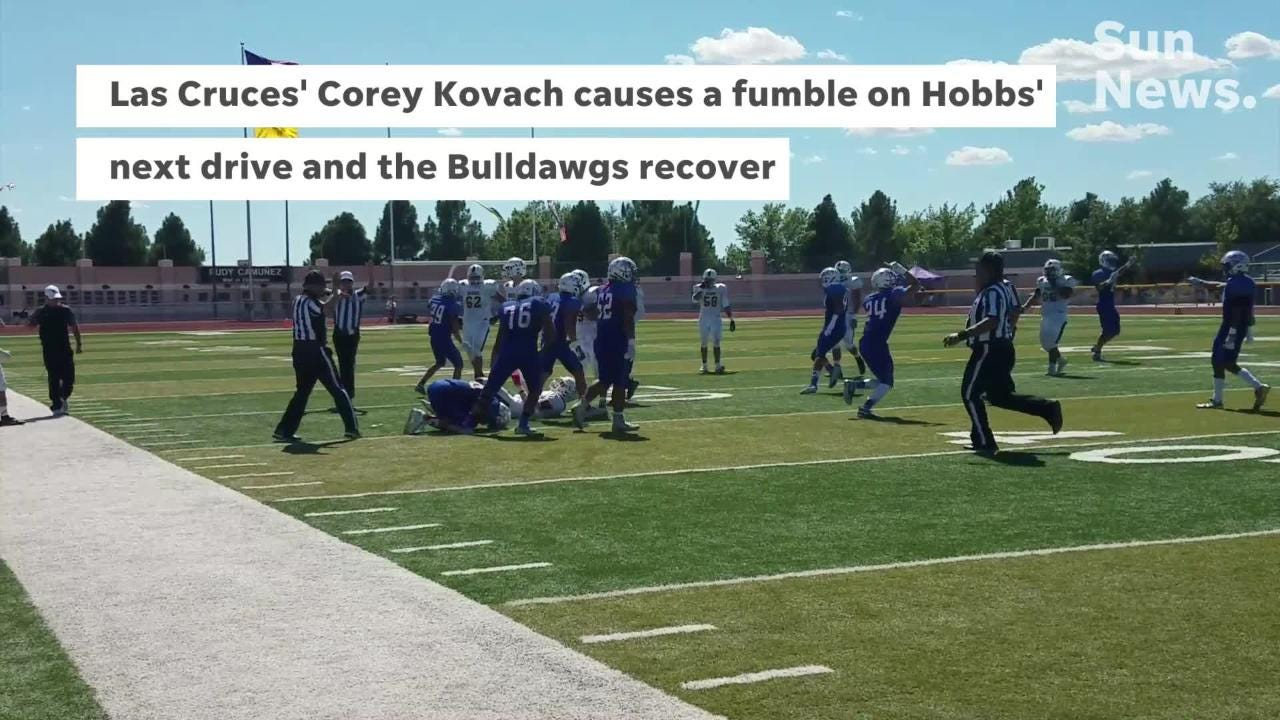 Las Cruces' 13-game district win streak was snapped with a 36-21 loss to Hobbs on Saturday at the Field of Dreams.
