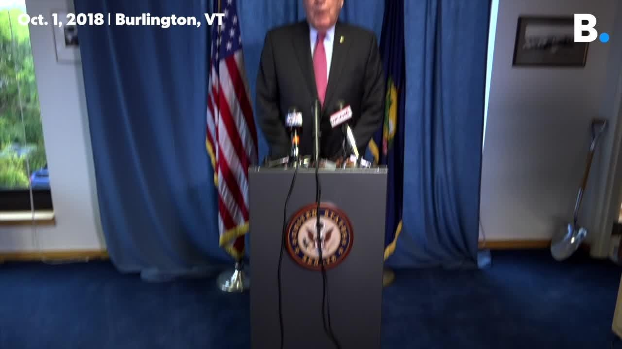 Sen. Patrick Leahy says that Supreme Court nominee Brett Kavanaugh hasn't told the truth, speaking in Burlington, VT, on Monday, Oct. 1 2018.