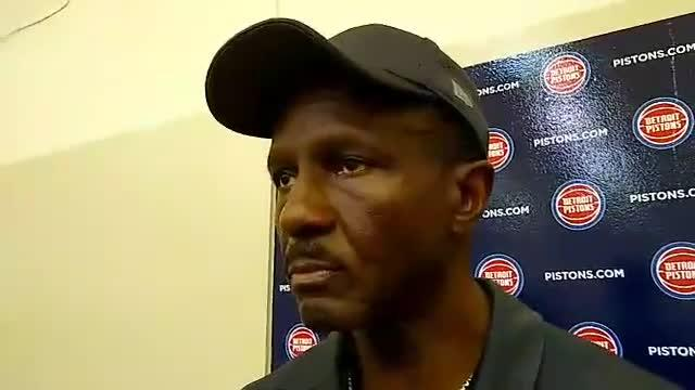 Detroit Pistons coach Dwane Casey speaks to the media after practice on Monday, Oct. 1, 2018, in Auburn Hills.