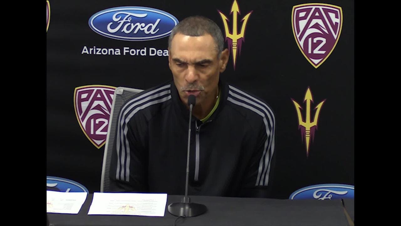Herm Edwards discusses running back Eno Benjamin's historic performance against Oregon State on Saturday.