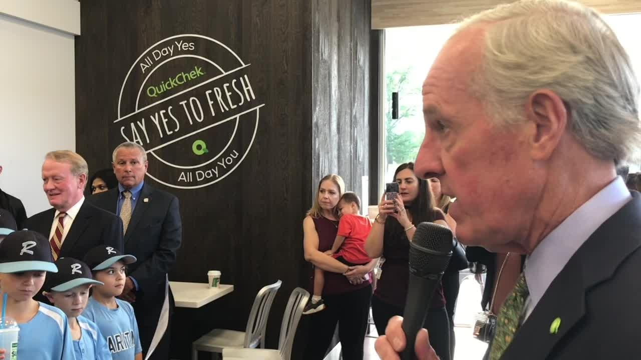 QuickChek CEO Dean Durling shares the details of the convenience store chain's newly designed stores at the new location in Raritan Borough.