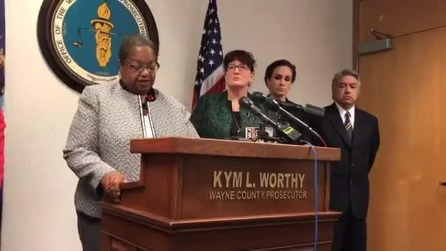 Wayne County Prosecutor Kym Worthy said William Marshall pleaded for help but never received proper medical attention and died of drug toxicity.