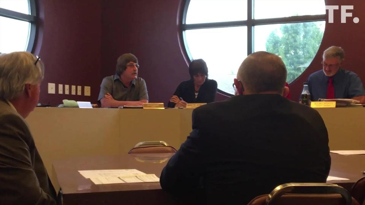During a Monday council meeting, Crestline Mayor Allen Moore explains his use of racial slurs in a June conversation with police Chief Joe Butler.