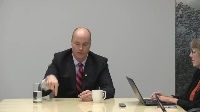 J.D. Scholten meets with the Register's editorial board
